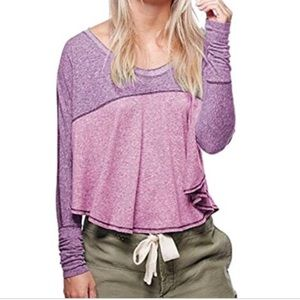 FREE PEOPLE a colorblock tee